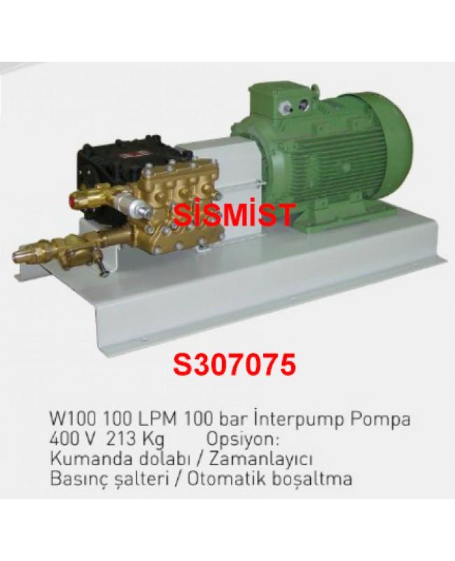 """100 Lt/Dk Yüksek Basınçlı Sisleme Pompa Motor Grubu """"Interpump"""""""