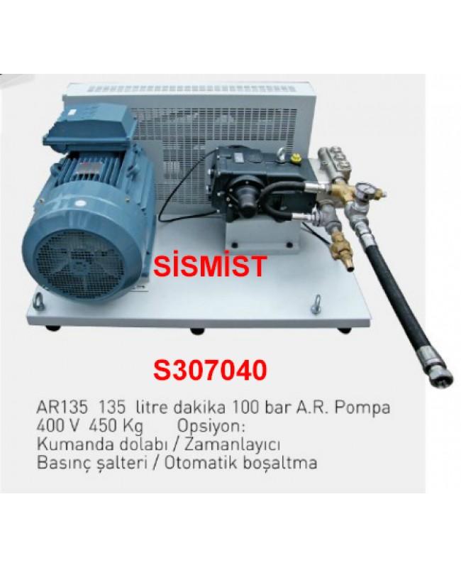 """135 Lt/Dk Yüksek Basınçlı Sisleme Pompa Motor Grubu """"Ar-Pump"""""""