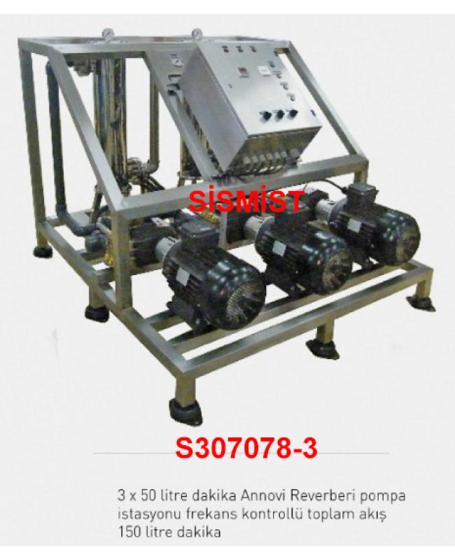 """150 Lt/Dk Yüksek Basınçlı Sisleme 3X50 Lt Pompa Motor Grubu """"Ar-Pump"""""""