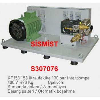 """153 Lt/Dk Yüksek Basınçlı Sisleme Pompa Motor Grubu """"Interpump"""""""