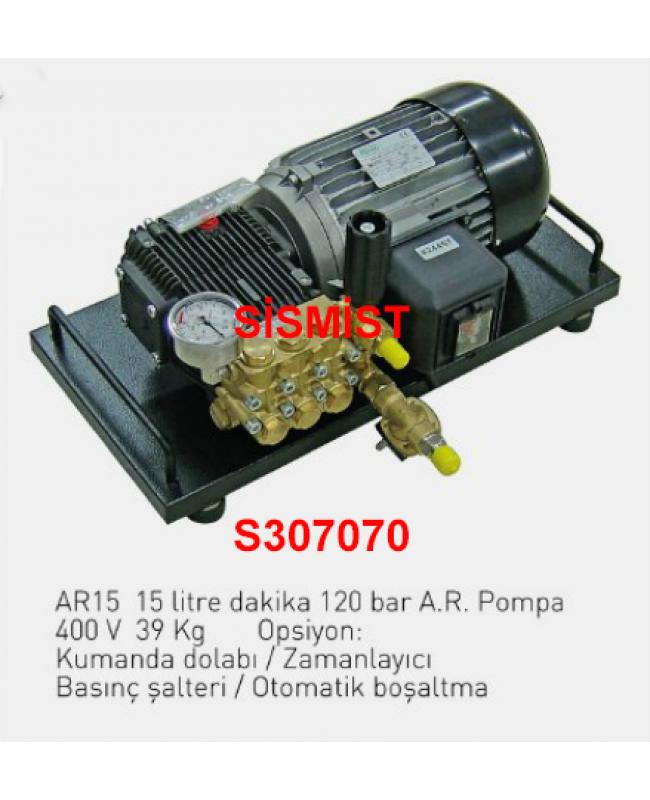"""15 Lt/Dk Yüksek Basınçlı Sisleme Pompa Motor Grubu """"Ar-Pump"""""""