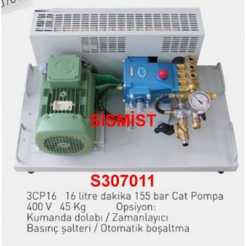 """16 Lt/Dk Yüksek Basınçlı Sisleme Pompa Motor Grubu """"Cat-Pump"""""""