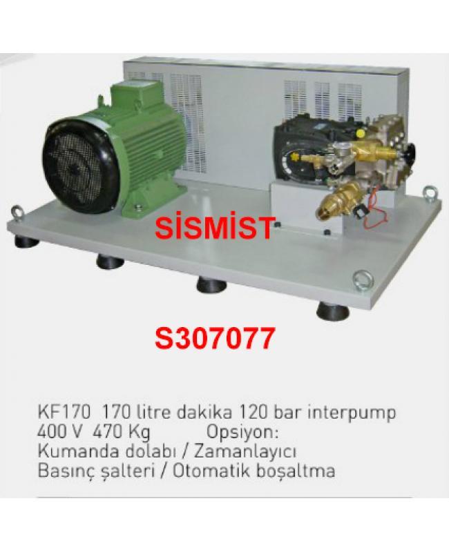"""170 Lt/Dk Yüksek Basınçlı Sisleme Pompa Motor Grubu """"Interpump"""""""