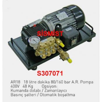 """18 Lt/Dk Yüksek Basınçlı Sisleme Pompa Motor Grubu """"Ar-Pump"""""""