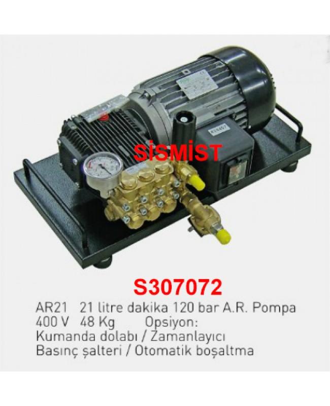 """21 Lt/Dk Yüksek Basınçlı Sisleme Pompa Motor Grubu """"Ar-Pump"""""""