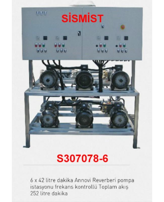 """252 Lt/Dk Yüksek Basınçlı Sisleme 6X42 Lt Pompa Motor Grubu """"Ar-Pump"""""""