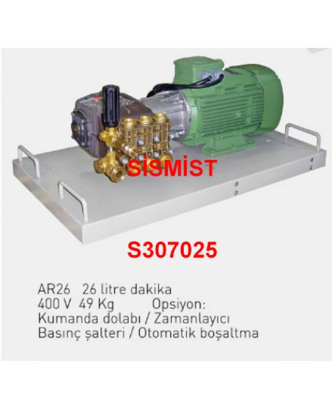 """26 Lt/Dk Yüksek Basınçlı Sisleme Pompa Motor Grubu """"Ar-Pump"""""""