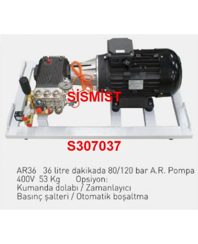 """36 Lt/Dk Yüksek Basınçlı Sisleme Pompa Motor Grubu """"Ar-Pump"""""""