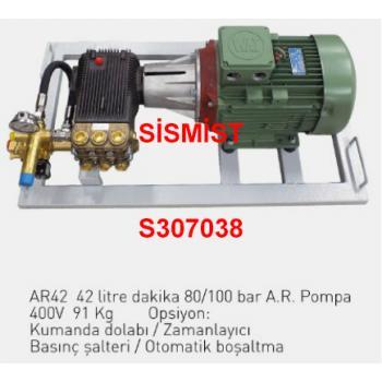 """42 Lt/Dk Yüksek Basınçlı Sisleme Pompa Motor Grubu """"Ar-Pump"""""""