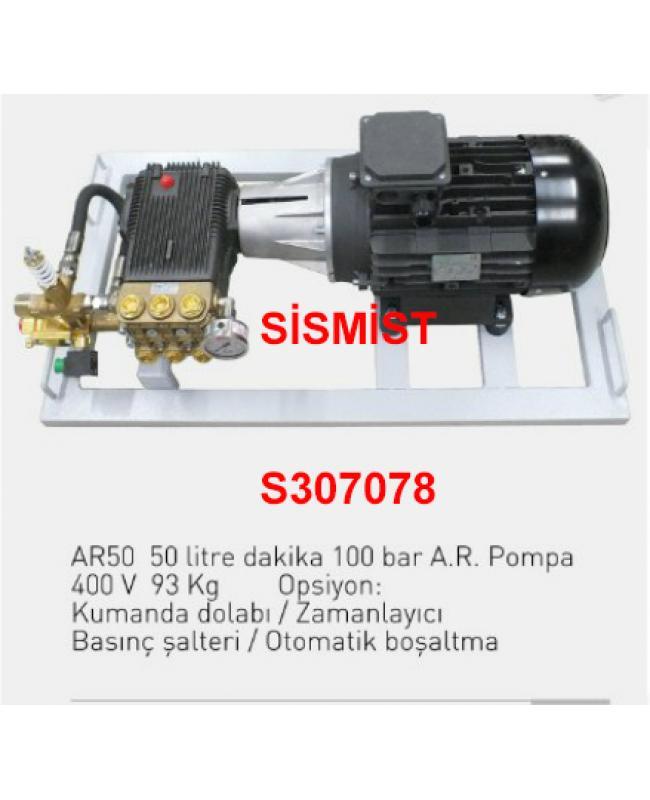"""50 Lt/Dk Yüksek Basınçlı Sisleme Pompa Motor Grubu """"Ar-Pump"""""""