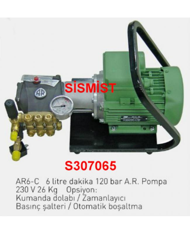 """6 Lt/Dk Yüksek Basınçlı Sisleme Pompa Motor Grubu """"Ar-Pump"""""""