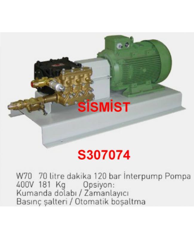 """70 Lt/Dk Yüksek Basınçlı Sisleme Pompa Motor Grubu """"Interpump"""""""