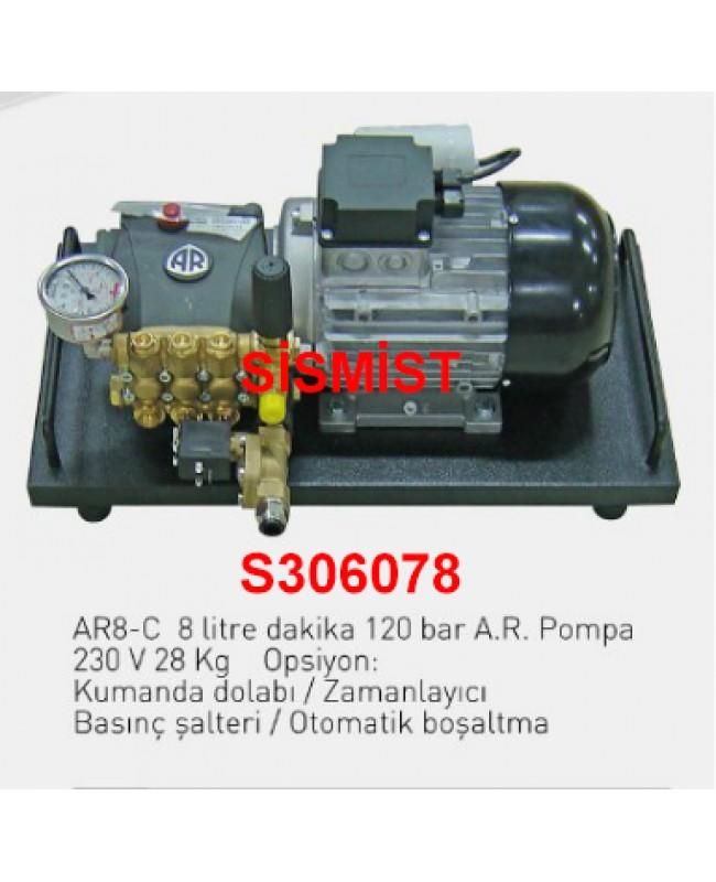 """8 Lt/Dk Yüksek Basınçlı Sisleme Pompa Motor Grubu """"Ar-Pump"""""""