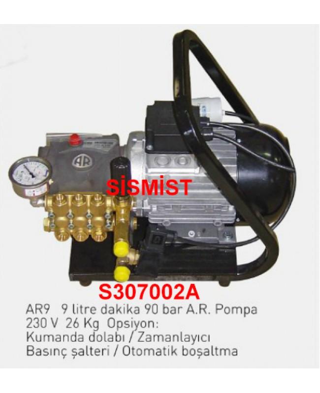 """9 Lt/Dk Yüksek Basınçlı Sisleme Pompa Motor Grubu """"Ar-Pump"""""""