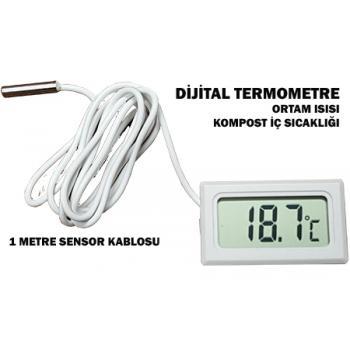 Dijital Termometre - Ortam Isısı Veya Kompost Isısı Göstergesi
