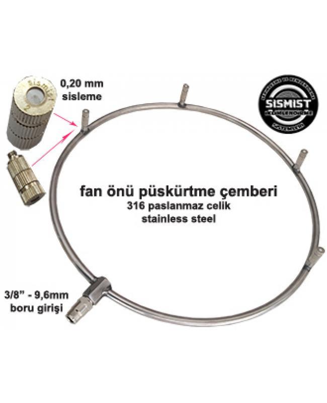 Yüksek Basınç Fan Önü Sisleme Çemberi Takımı 4 Adet Nozullu (30-70 Bar)
