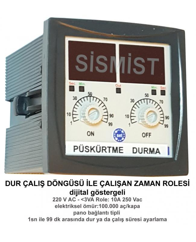Zaman Rolesi 220V KRK (Dur Çalış Döngülü)