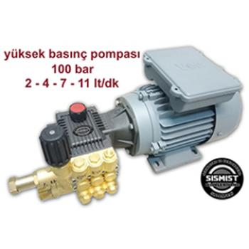 Sismist Yüksek Basınç Çıplak Pompa-Motor Grubu 2-4-7-11-15Lt(70-120 Bar)