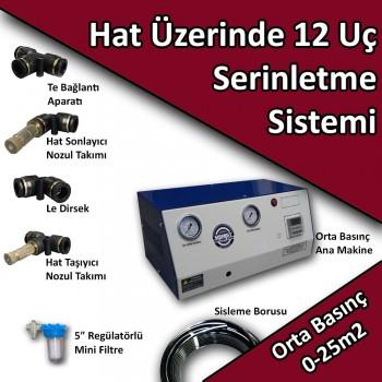 12 Uçlu Açık Alan Soğutma Serinletme Sistemi Orta Basınç No:HS2