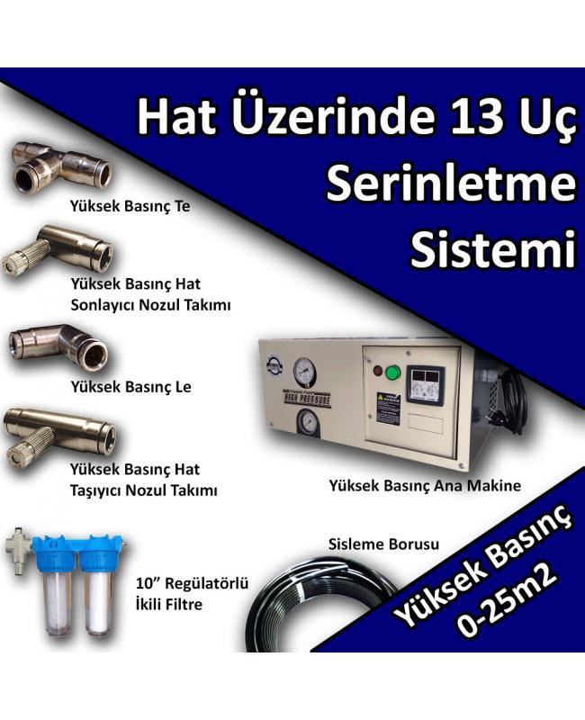 13 Uçlu Açık Alan Serinletme Soğutma Sistemi Yüksek Basınç No:HS8
