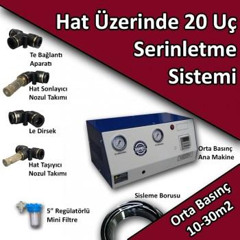 20 Uçlu Açık Alan Soğutma Serinletme Sistemi Orta Basınç No:HS1