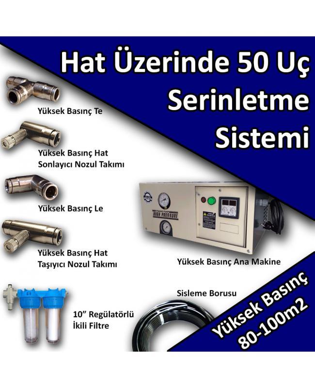 50 Uçlu Açık Alan Serinletme Soğutma Sistemi Yüksek Basınç No:HS4