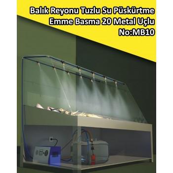 Balık Reyonu 20 Metal Uçlu Püskürtme Sistemi Emme Basma No:MB10
