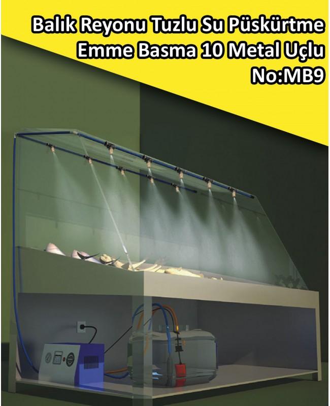 Balık Reyonu 10 Metal Uçlu Püskürtme Sistemi Emme Basma No:MB9