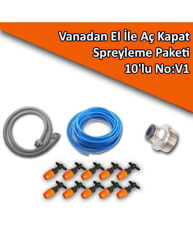 Vanadan El İle Aç Kapat Spreyleme Paketi 10'lu No:V1