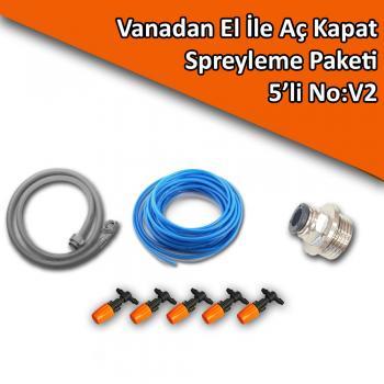 Vanadan El İle Aç Kapat Spreyleme Paketi 5'li No:V2
