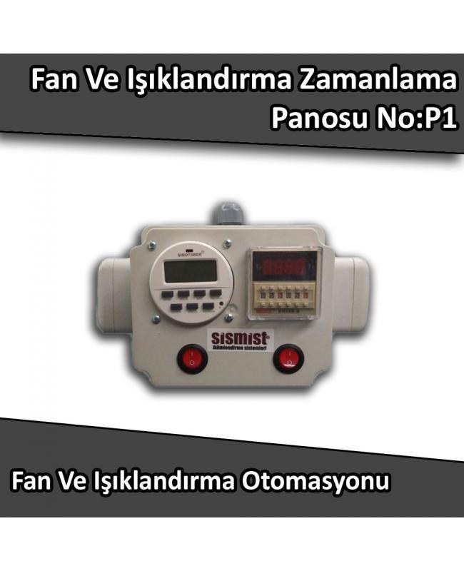 Fan Ve Işıklandırma Zamanlama Panosu No:P1