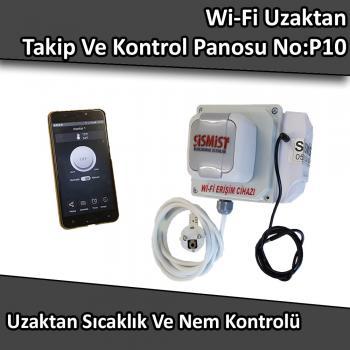 WiFi Uzaktan Sıcaklık Ve Nem Takibi Ve Kontrolü Panosu No:P10