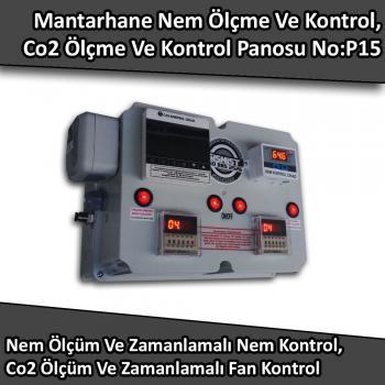 Mantarhane Nem Ölçme Ve Kontrol, Co2 Ölçme Ve Kontrol Panosu No:P15