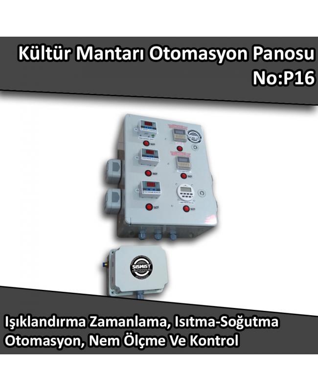 Kültür Mantarı Nem Kontrol, Sıcaklık Kontrol Ve Işıklandırma Kontrol Panosu No:P16