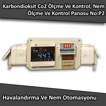 Karbondioksit Co2 Ölçme Ve Kontrol, Nem Ölçme Ve Kontrol Panosu No:P2