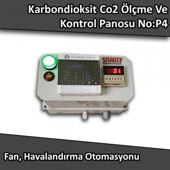 Karbondioksit Co2 Ölçme Ve Kontrol Panosu Kontaktörlü No:P4