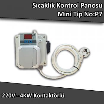 Sıcaklık Kontrol Panosu Mini Tip 220 V 4 Kw No:P7