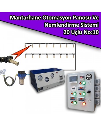 Mantarhane Otomasyon Panosu Ve 20 Uçlu Nemlendirme Sistemi Paket No:10