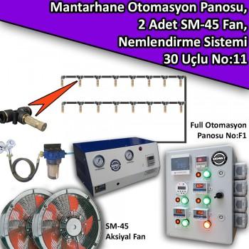 Mantarhane Otomasyon Panosu, 2 Adet Fan Ve 30..