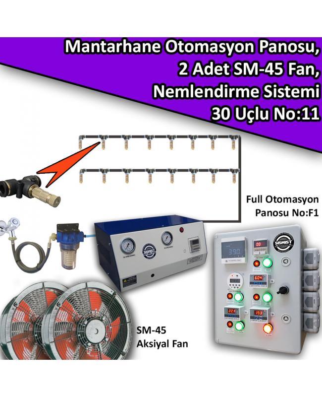 Mantarhane Otomasyon Panosu, 2 Adet Fan Ve 30 Uçlu Nemlendirme Sistemi Paket No:11