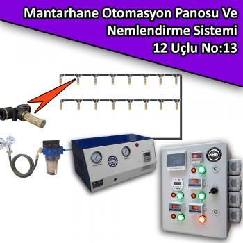 Mantarhane Otomasyon Panosu Ve 12 Uçlu Nemlendirme Sistemi Paket No:13