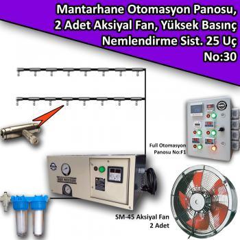 Mantarhane Full Otomasyon Panosu Ve Yüksek Basınçlı Nemlendirme Paketi No:30