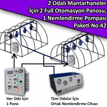 2 Odalı Mantarhaneler İçin 2 Full Otomasyon Panosu Ve 1 Nemlendirme Sistemi Paketi No:42