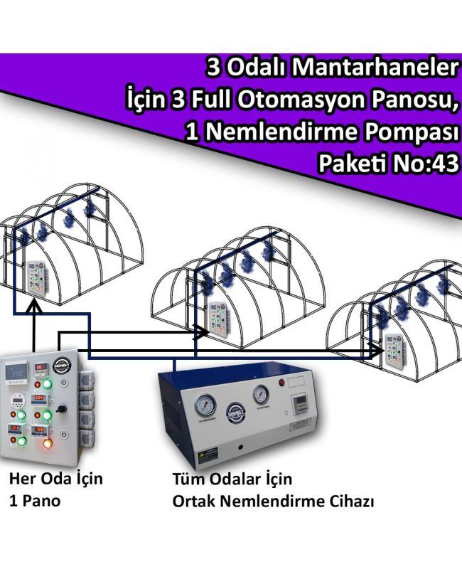 3 Odalı Mantarhaneler İçin 3 Full Otomasyon Panosu Ve 1 Nemlendirme Sistemi Paket No:43