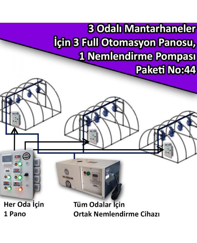 3 Odalı Mantarhaneler İçin 3 Full Otomasyon Panosu Ve 1 Nemlendirme Sistemi Paket No:44
