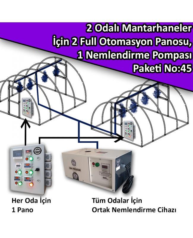 2 Odalı Mantarhaneler İçin 2 Full Otomasyon Panosu Ve 1 Nemlendirme Sistemi Paketi No:45