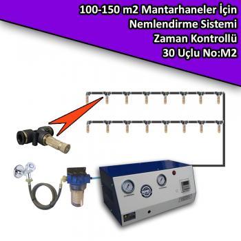 100-150 M2 Mantarhaneler İçin 30 Nozullu Nemlendirme Sistemi Zaman Kontrollü No:M2