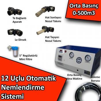 12 Uçlu Otomatik Nemlendirme Sistemi Orta Basınç 0-500m3 No:N4