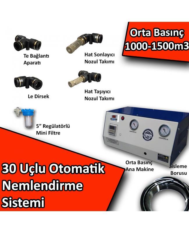 30 Uçlu Otomatik Nemlendirme Sistemi Orta Basınç 1000-1500m3 No:N3