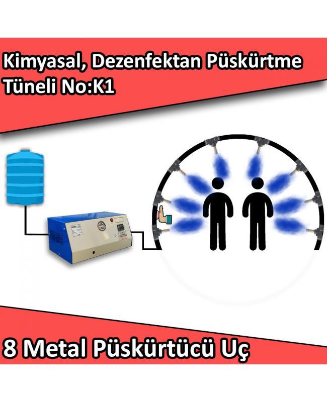 Dezenfektan, Kimyasal Kapı Girişi Püskürtme Tüneli 8 Metal Nozullu No:K1